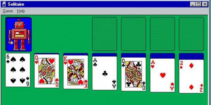 Solitär Kartenspiel aus Microsoft Windows